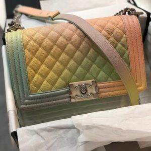 Chanel Boy Bag Pastel Rainbow